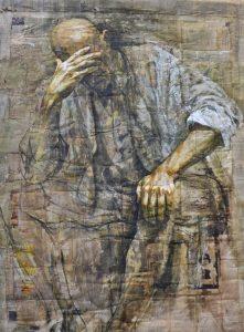 """""""Luidgi"""" de Safet Zec, exposition """"la peinture et la vie"""" au Musée de l'Hospice Comtesse le 11 oct 2016 - Photo : Virginie Chrétien, Le Chêne parlant."""